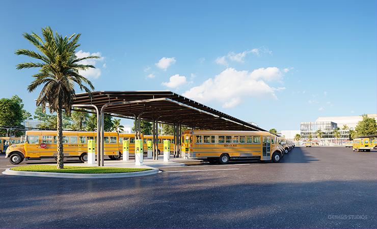 Electric School Bus Fleet